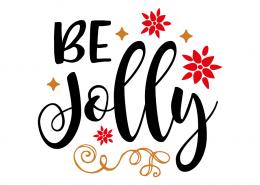 Free SVG cut file - Be Jolly
