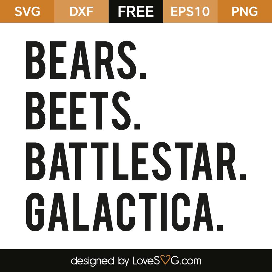 c45740a0739 Bears beets battlestar galactica
