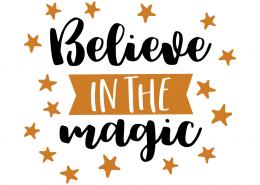 Free SVG cut file - Believe in Magic