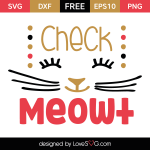 Free SVG cut file - Check Meowt