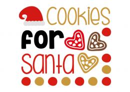 Free SVG cut file - Cookies for santa