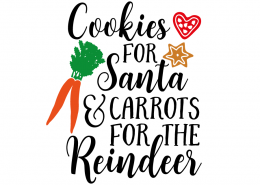 Free SVG cut file - Cookies for Santa & Carrots for the Reindeer