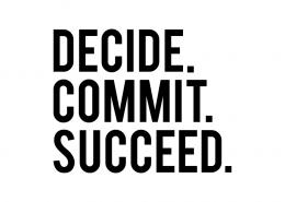 Free SVG cut file - Decide Commit Succeed