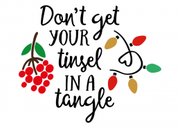 Free SVG cut file - Dont get your tinsel in a tangle