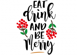 Free SVG cut file - Eat Drink and be Merry