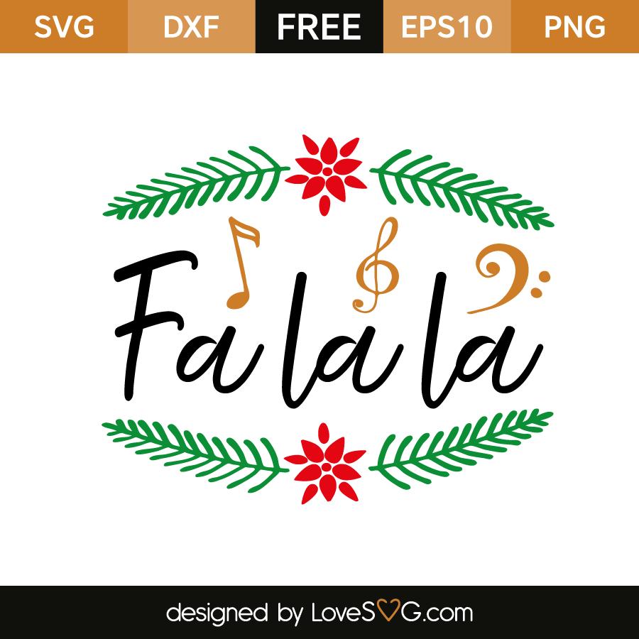 Fa la la | Lovesvg.com