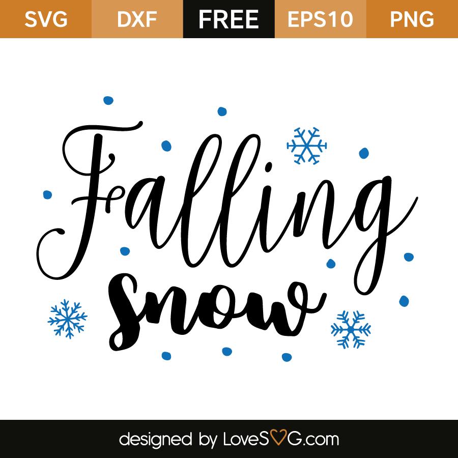 Free SVG cut file - Falling Snow