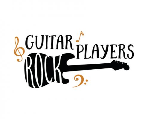 Free svg cut files - Guitar Players Rock