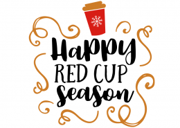 Free SVG cut file - Happy red cup season