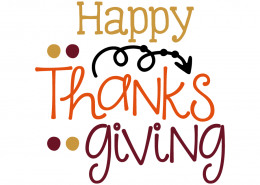 Free SVG cut file - Happy Thanksgiving