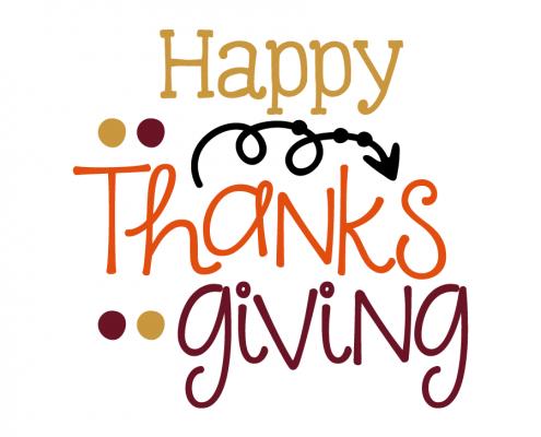 Free SVG cut file - Happy Thanksgiving
