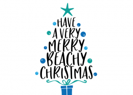 Free SVG cut file - Have a very Merry Beachy Christmas