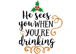 Free SVG cut file - I sees you when you're drinking