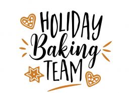 Free SVG cut file - Holiday Baking Team