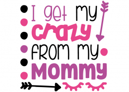 Free SVG cut file - I get my crazy from my Mommy