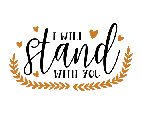 Free SVG cut file - I will stand with you