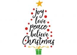 Free SVG cut file - Joy love peace believe christmas