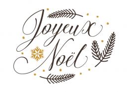 Free SVG cut file - Joyeux noel