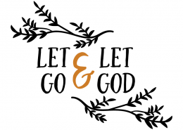 Free SVG cut file - Let go & Let God