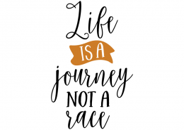 Free SVG cut file - Life is a journey not a Race
