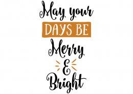 Free SVG cut file - JinFree SVG cut file - May your days be Merry & Brightgle bells