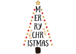 Free SVG cut file - Merry christmas