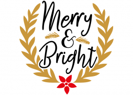 Free SVG cut file - Merry & Bright