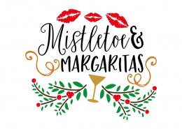 Free SVG cut file - Mistletoe & Margaritas