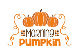 Free SVG cut file - Morning Pumpkin