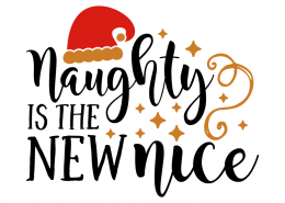Free SVG cut file - Naughty is the new nice