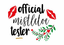 Free SVG cut file - Official mistletoe tester