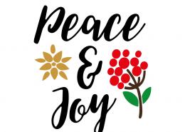 Free SVG cut file - Peace & Joy