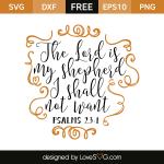 Free SVG cut file - Psalms 23:1