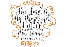 Free SVG cut file - Psalms 23:1