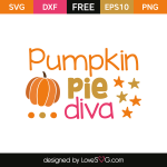 Free SVG cut file - Pumpkin Pie Diva