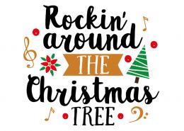 Free SVG cut file - Rockin' around the Christmas tree