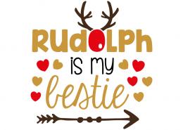 Free SVG cut file - Rudolph is my Bestie