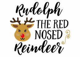 Free SVG cut file - Rudolph the red nosed reindeer