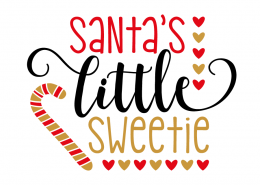 Free SVG cut file - Santa's little Sweetie
