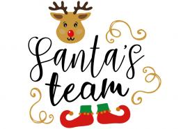Free SVG cut file - Santas team