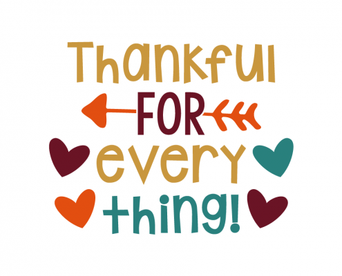 Free SVG cut file - Thankful for everything!