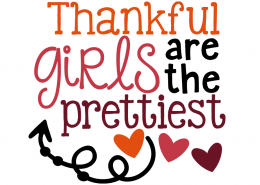 Free SVG cut file - Thankful Girls are the Prettiest