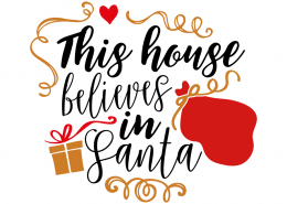 Free SVG cut file - This house believes in Santa