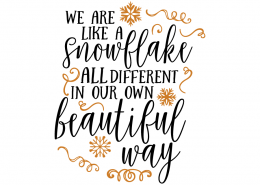 Free SVG cut file - We are like a snowflake