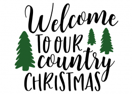 Free SVG cut file - Welcome to our country Christmas