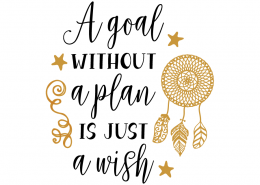 Free svg cut files - A goal without a plan is just a wish