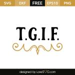 Free svg cut files - Tgif