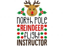 Free SVG cut file - North Pole Reindeer Flight Instructor