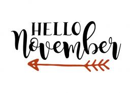 Free SVG cut file - Hello november