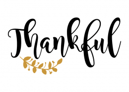 Free SVG cut file - Thankful